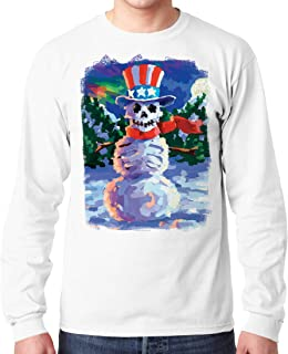 Liquid Blue Uncle Sam Snowman Skeleton Long Sleeve Graphic Tee