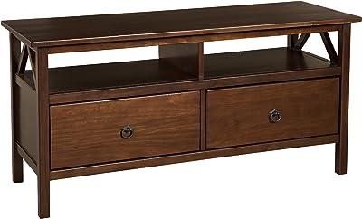 """Linon Home Dcor Linon Home Decor, Antique Tobacco Titian TV Stand, 44.02""""w x 16.02""""d x 21.97""""h,"""