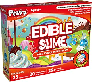 Playz Edible Slime Candy Making Food Science Chemistry Kit for Kids with 25+ STEM Experiments to...
