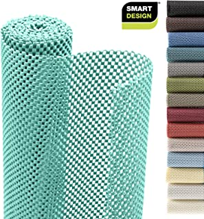 Smart Design Shelf Liner w/Premium Grip - Wipes Clean - Cutable Material - Non Slip Design - for Shelves, Drawers, Flat Surfaces - Kitchen (12 Inch x 20 Feet) [Mint]