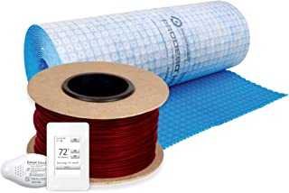 WarmlyYours TCT120-KIT-OT-MEM-300 TempZone Electric Cable Prodeso Floor Heating Kit, 300 ft.