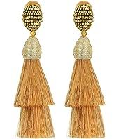 Oscar de la Renta - Layered Horsehair C Earrings