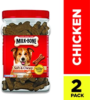 Milk-Bone Soft and Chewy Chicken Bones Treats for Dogs (2 Pack 25 oz)