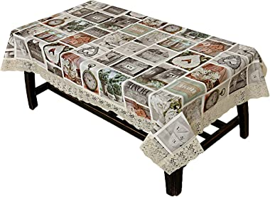 Kuber Industries Dining Table Cover Tablecloth Waterproof Protector 6 Seater with Home Decor Design, 60 X 90 Inches Rectangle