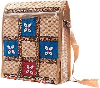 PRYSHA Jute bag I Medium size I Shopping bag, Daily use bag, Sling Bag (14x12x4)