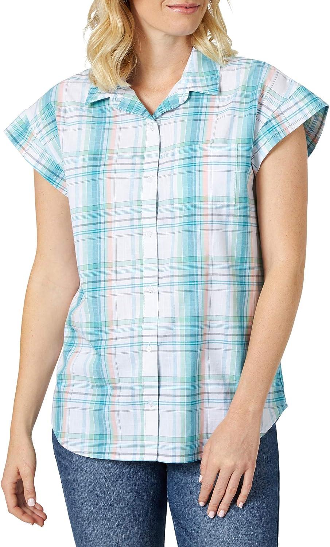 Riders by Lee Indigo Women's Short Sleeve Plaid Woven Shirt