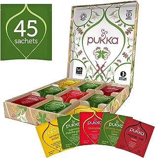 Pukka Active Theedoos, Biologische kruidenthee geschenkset - 5 smaken - 45 zakjes