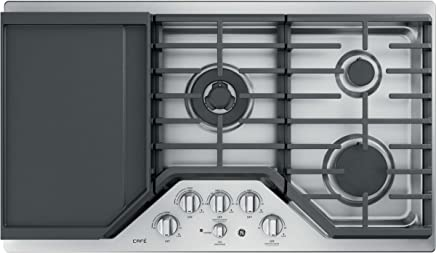 GE Cafe 36 Inch Gas Cooktop 5 Sealed Burners with Tri-Ring, Simmer,