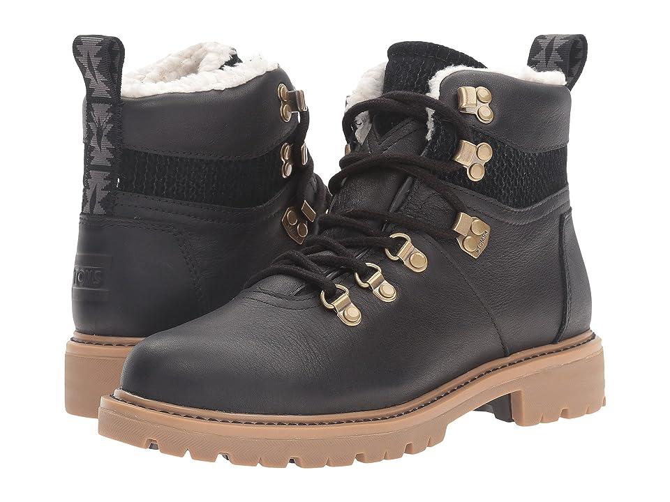 TOMS Summit Boot (Black Waterproof Leather) Women