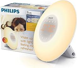 Philips Wake-up Light, Sunrise Simulation, 2 Natural Sounds, FM Radio & Bedside Lamp HF3505/60