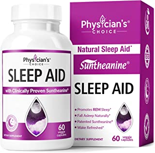 Sleep Aid with Valerian Root, Patented Suntheanine, 100% Natural, Chamomile, Suntheanine & P5P Wake Up Feeling Rested, Sle...