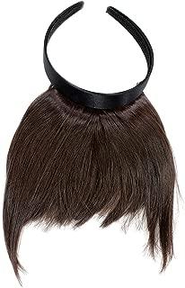 WIG ME UP ® - Peluca, flequillo de clip-in, con diadema, pelo de costado largo, aparencia muy natural, marrón (6), HA071T-6