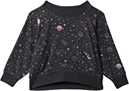 Bliss Knit Boxy Long Sleeve Cropped Raglan Pullover (Toddler/Little Kids)