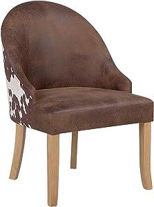 Beliani Einzigartiger Sessel in Braun im angesagten Retro-Stil Vallbo