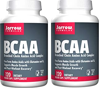 Jarrow Formulas BCAA (Branched Chain Amino Acid Complex) Free Form Amino Acids with Glutamine and B6 to Support Muscle Gro...