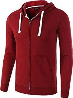 HETHCODE Mens Casual Fashion Zip Up Long Sleeve Pocket Hoodie Sweatshirt Jacket