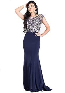 US Fairytailes Cap Sleeve Sequin Evening Dress #27310