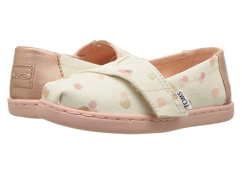 TOMS Kids Alpargata (Infant/Toddler/Little Kid) (Pale Blush Party Dots) Girl