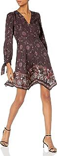 Rebecca Taylor womens Long Sleeve V-neck Floral Mini Dress Dress