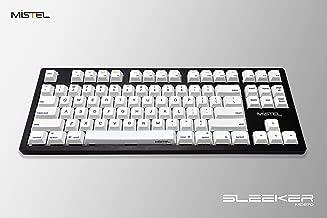 Mistel Sleeker MD870 Mechanical Keyboard Chrerry MX Blue Switch Black Full CNC Aluminum Case Mac Windows (Tenkeyless, Single White LED Backlit, PBT Dye-Sub Keycap, ANSI/US Layout)