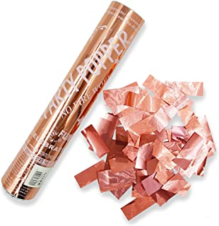 PARTY TIME - 1 Piece Rose Gold Party Supplies - Confetti Sticks Cannons with Metallic Foil Papers inside for All Events an...