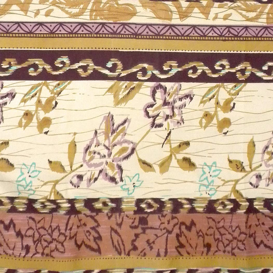 Ikat Print Cotton Fabric for Craft Bulletin Boards Pillows 1 Yard by Craftbot
