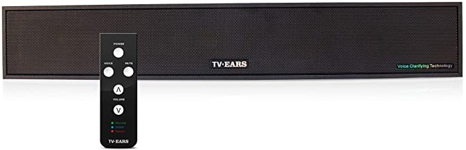 TV Ears Voice Clarifying TV Sound Bar � TV Speaker System for Great Sound and Hearing TV Dialog More Clearly � Compatible with Any Television � Clarifying Audio System for Hearing Impaired TV Viewers