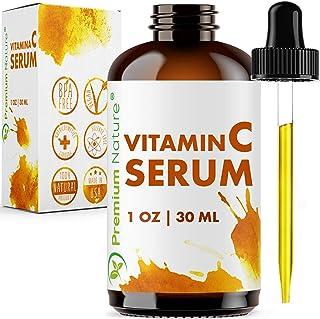 Vitamin C Serum Hyaluronic Acid - Anti Aging 20% Vit C Face Cream with All Natural Ingredients Facial Skin Serum Dark Spot...