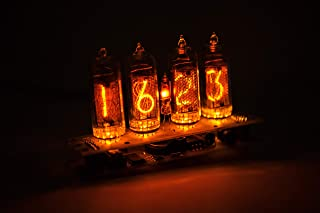CoolElectronics Nixie Vacuum Tube Clock Calendar IN-14 - Vintage - Steampunk - Dieselpunk - Soviet Made During The Cold War Era - Handmade