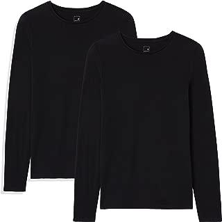 Marca Amazon - MERAKI Camisetas, Mujer, Paquete de 2