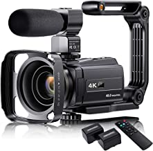 """Sponsored Ad - 4K Video Camera Camcorder with Microphone, VAFOTON 48MP Vlogging Camera for YouTube 16X Zoom 3.0"""" Touch Scr..."""