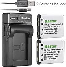 Kastar Battery (X2) & Slim USB Charger for Nikon EN-EL10 MH-63 and Nikon Coolpix S60, S80, S200, S210, S220, S230, S500, S510, S520, S570, S600, S700, S3000, S4000, S5100 + More Camera