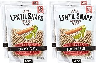 Calbee Lentil Snaps - Tomato Basil - 3 OZ - 4 Pack