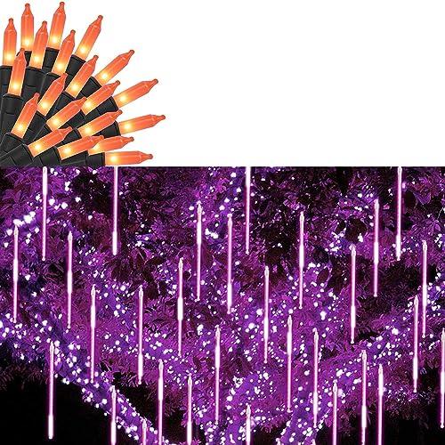 lowest Twinkle Star Halloween Lights   Meteor Shower Rain Lights, online sale online Purple sale
