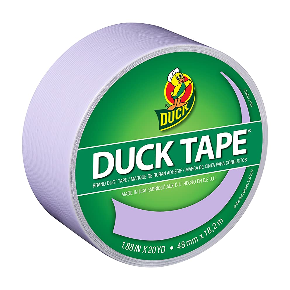 Duck Brand 240977 Color Duck Tape, Dusty Lilac, 1.88-Inch by 20 Yards, Single Roll j21531439062