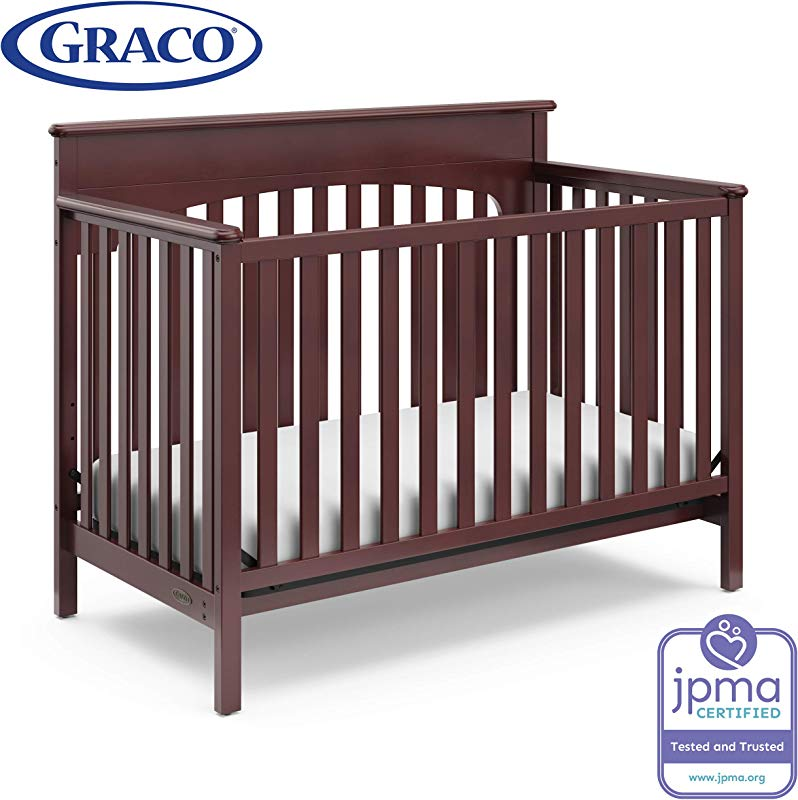 Graco Lauren Convertible Crib Cherry Easily Converts To Toddler Bed Day Bed Or Full Bed Three Position Adjustable Height Mattress Some Assembly Required Mattress Not Included