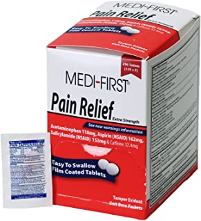 Medique Products 81148 Medi-First Pain Relief Tablets, 250 Tablets, 125 X 2