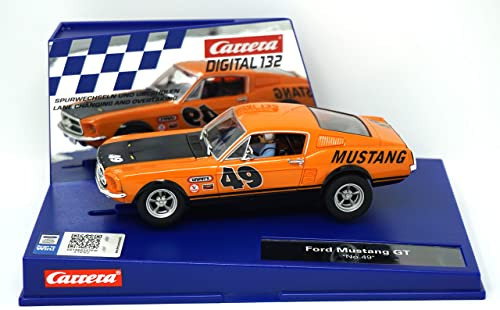 Carrera Digital 132 30722 Ford Mustang GT  No. 49  LICHT NEUHEIT