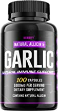 Garlic Capsules 1000mg, Garlic Supplement, Extra Strength Black Garlic Extract with Allicin, Triple Mix, Restore for Gut H...
