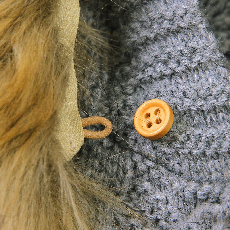 Haokaini Newborn Baby Ear Hooded Coat Warmer Knitted Tops Overall for Boys Girls