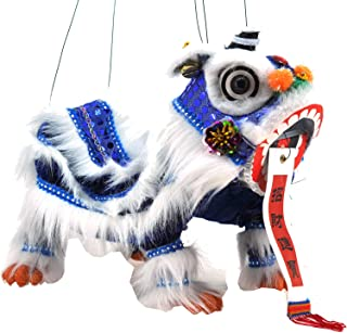 Mandala Crafts Chinese Hand Marionette Puppet (Blue Lion)