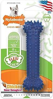 Interpet NCF201TPPEU Nylabone kauwspeelgoed voor gematigde kauwen, botten, Medium, blauw