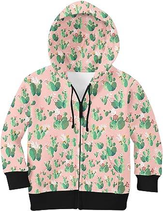 Cactus Bloom Zip Up Hoodie Unisex In Kids nomrse80-Sporting goods
