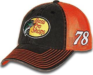 da03ceed5b8c4 Checkered Flag 2018 NASCAR Vintage Sponsor Trucker Mesh Adjustable Hat Cap