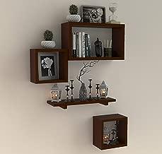 Fabulo Room Decor Wall Shelf with 4 Shelves Brown