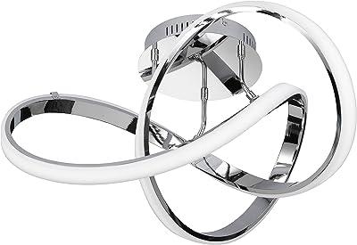 WOFI Plafonnier Aluminium Intégré 64W Chrome 59x59x290cm