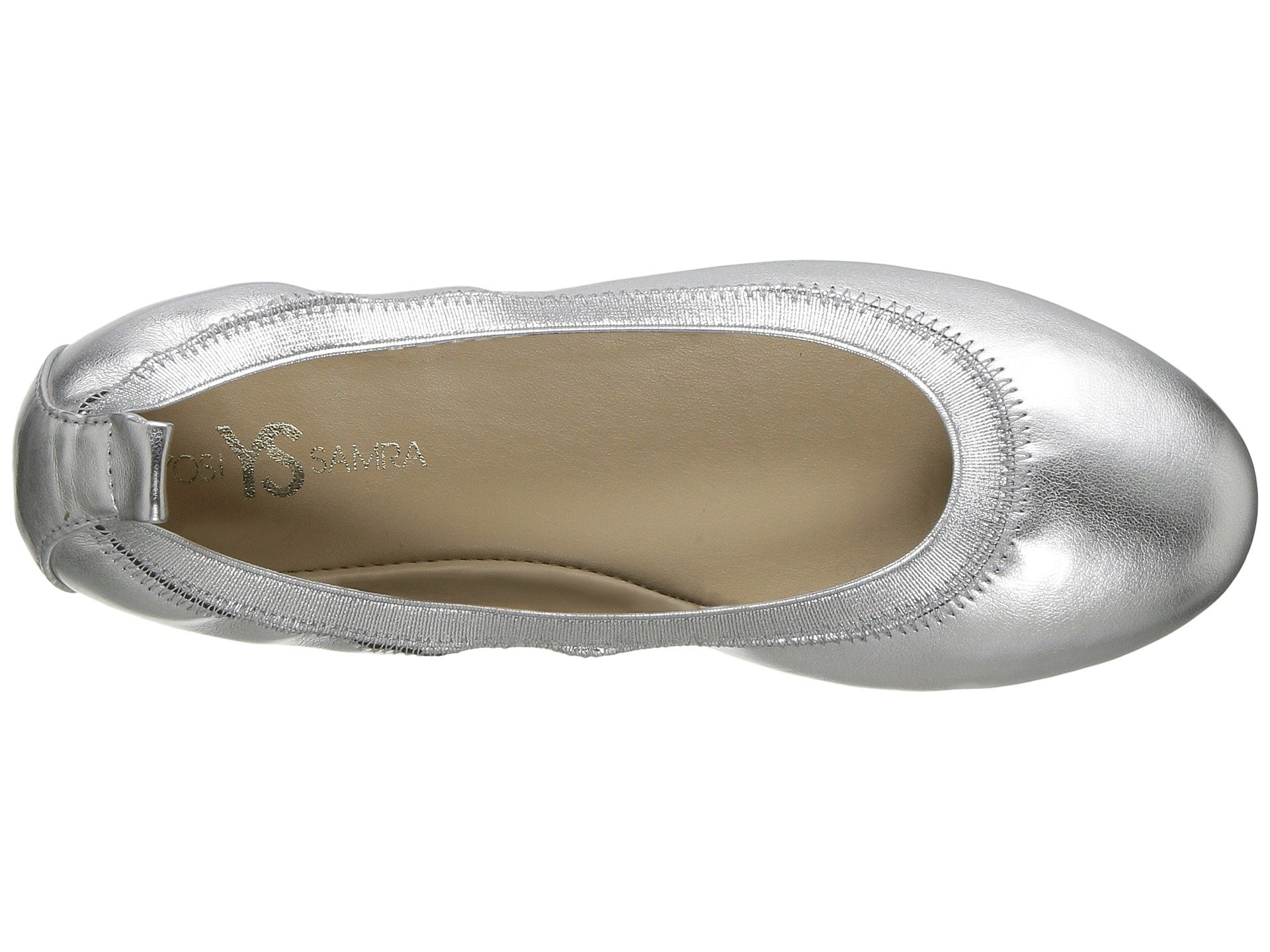 yosi samra kids miss samara metallic ballet flat (toddler/little kid/big kid)