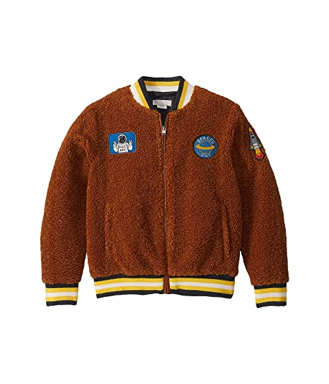 Stella McCartney Kids Teddy Bomber with Space Patches (Little Kids/Big Kids)