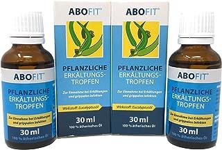 ABOFIT Eukalyptusöl Pflanzliche Erkältungstropfen zum Einreiben, Inhalieren, Einnehmen bei Erkältung 60ml 2 x 30ml