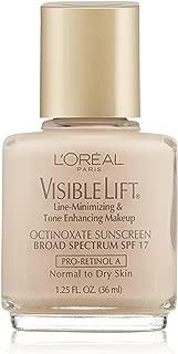 L'Oreal Paris Visible Lift Line-Minimizing & Tone-Enhancing Makeup, Soft Ivory, 1.25 Ounces